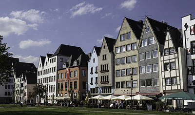 Restaurants And Brewpubs Along The Rhine Cologne Art Print