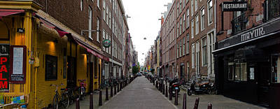 Point Park Photograph - Restaurants In A Street, Amsterdam by Panoramic Images