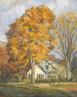 New England Painting - Restful Autumn by Lucie Bilodeau