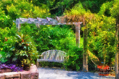 Restful Digital Art - Restful Retreat by Lois Bryan