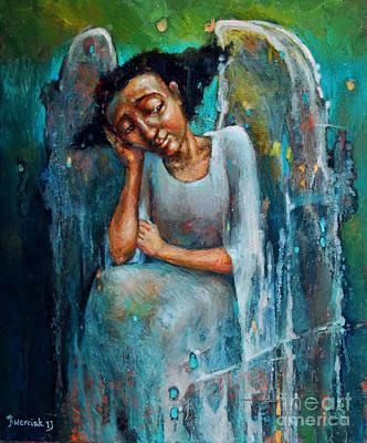 Resting Angel Original by Michal Kwarciak
