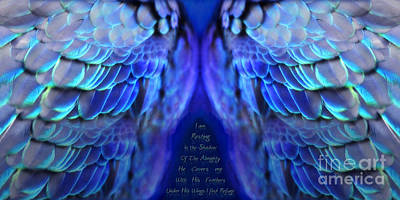 Prophetic Art Wall Art - Digital Art - Psalm 91 Wings by Constance Woods
