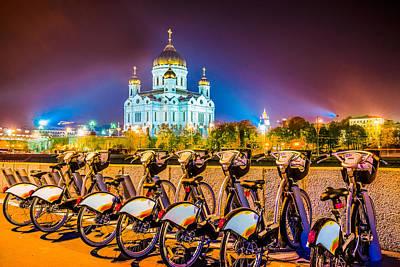 City Lanscape Photograph - Resting Bikes by Alexander Senin
