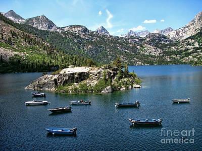 Trail Digital Art - Resting Boats On Lake Sabrina by Bedros Awak