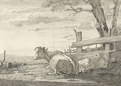 Resting Cattle In A Landscape, Christiaan Godfried Schutze Art Print by Artokoloro