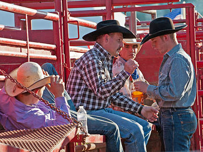 Photograph - Resting Cowboys by Keith Swango