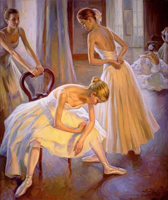 Resting Dancers Art Print