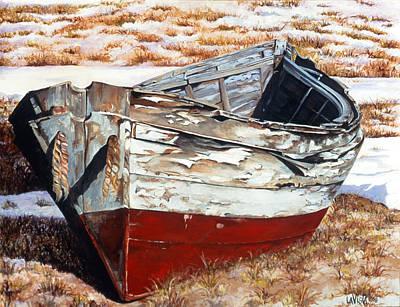 Amagansett Painting - Resting Dories by Lorraine LaVista