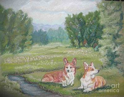 Pastel - Resting In The Glen by Ann Becker