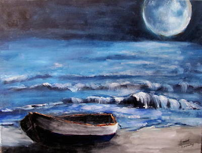 Painting - Resting In The Moonlight by Sarah Barnaby