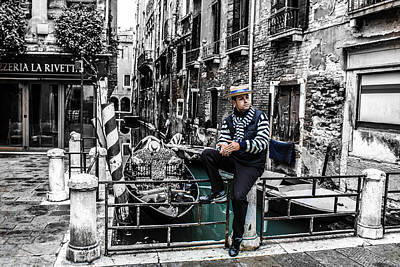 Steven Taylor Photograph - Resting In Venice  by Steven  Taylor