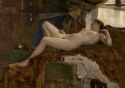 Resting Model Art Print by Auguste Durst