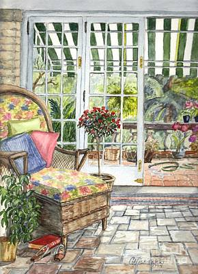 Resting On The Lanai Part 1 Art Print by Carol Wisniewski