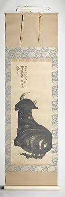 1781 Painting - Resting Ox Shohaku Soga, 1750 - 1781 by Litz Collection