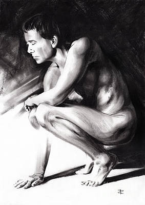 Drawing - Resting by Paul Davenport