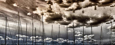 Cord Photograph - Resting Sailboats by Stelios Kleanthous