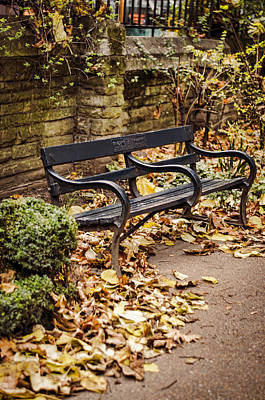 Park Benches Photograph - Resting Spot by Heather Applegate