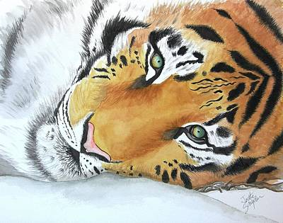 Painting - Resting Tiger by Joette Snyder