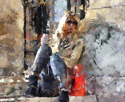 Old Town Digital Art - Resting Tourist In Paris by Yury Malkov