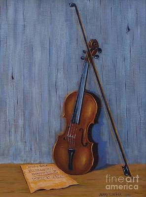 Painting - Resting Violin by Jerry Walker