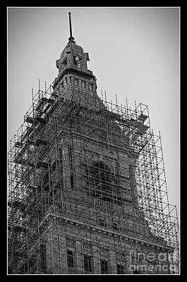 Photograph - Restoration Of The Travelers Tower by Phil Cardamone