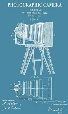 Vintage Camera Mixed Media - Restored Camera Patent by Dan Sproul