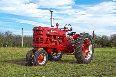 Restored Farmall Tractor Art Print by Charles Beeler