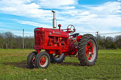 Photograph - Restored Farmall Tractor Hdr by Charles Beeler