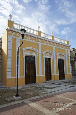 Mexico Photograph - Restored House Merida Mexico by John  Mitchell