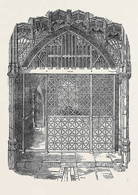 Restored Drawing - Restored Ironwork Of The Chantry And Tomb Of Henry V by English School