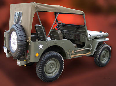 By Thomas Woolworth Photograph - Restored Jeep by Thomas Woolworth