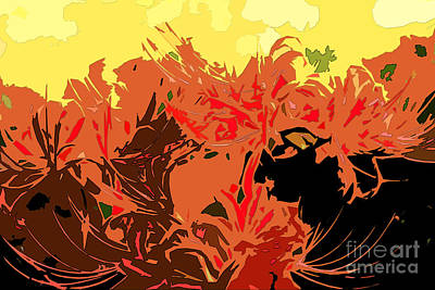 Digital Art - Resurrection Lilies In Autumn Hues - Part I by Beverly Claire Kaiya