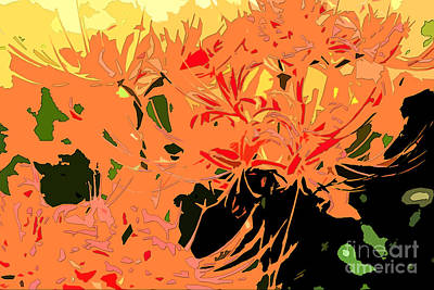 Digital Art - Resurrection Lilies In Autumn Hues - Part IIi by Beverly Claire Kaiya