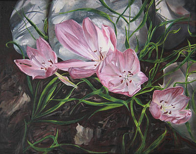 Painting - Resurrection Lilies by Nila Jane Autry