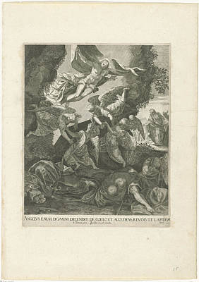 Resurrection Drawing - Resurrection Of Christ, Anonymous, Johann Sadeler by Quint Lox