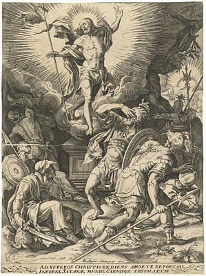 Resurrection Drawing - Resurrection Of Christ, Balthasar Caymox by Quint Lox