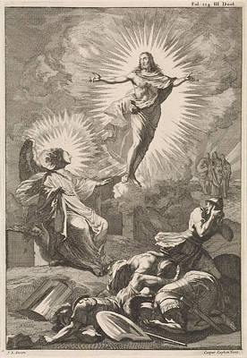 Resurrection Drawing - Resurrection Of Christ, Caspar Luyken, William Broedelet by Caspar Luyken And William Broedelet