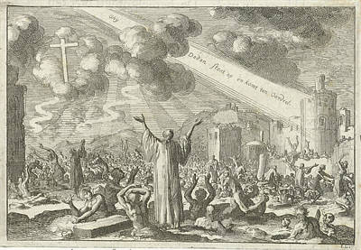 Resurrection Of The Dead, Print Maker Jan Luyken Art Print by Jan Luyken And David Ruarus