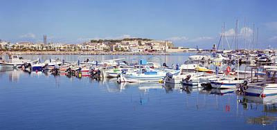 Photograph - Rethymnon Marina Panorama by Paul Cowan