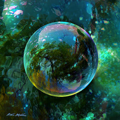 Abstract Digital Art - Reticulated Dream Orb by Robin Moline