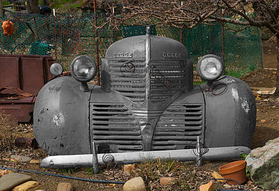Photograph - Retired Dodge Automobile by Richard J Cassato