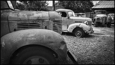 Photograph - Retired Dodge Trucks by Ron Roberts