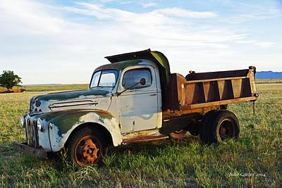 Photograph - Retired Dump Truck by Julie Carter