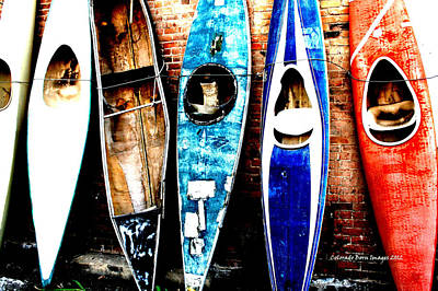 Photograph - retired Kayaks by Rebecca Adams