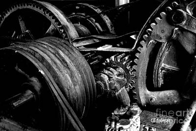 Photograph - Retired Machines 01 - Gears by E B Schmidt