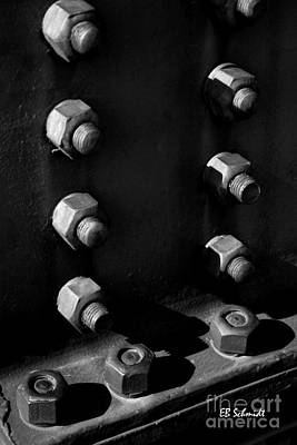 Photograph - Retired Machines 02 - Bolts by E B Schmidt