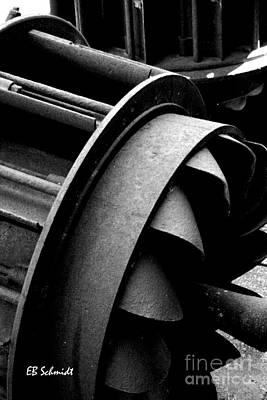 Photograph - Retired Machines 05 - Water Turbine by E B Schmidt
