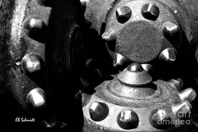 Photograph - Retired Machines 07 - Drill Bit by E B Schmidt