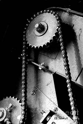 Photograph - Retired Machines 10 - Chain Drive by E B Schmidt