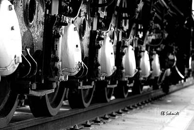 Photograph - Retired Machines 11 - Rail Wheels by E B Schmidt